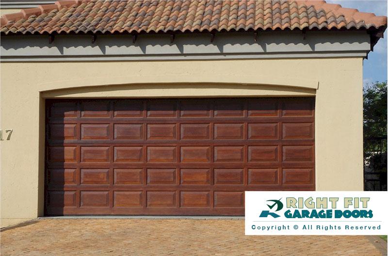 Rightfit garage doors wooden garage doors garage doors pretoria - Double wooden garage doors ...