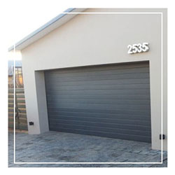 Double Aluminium Garage Doors Charcoal