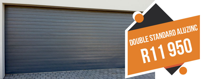 double aluzinc garage doors